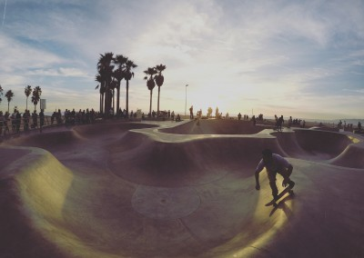 National University (USA) - Skating at Venice Beach