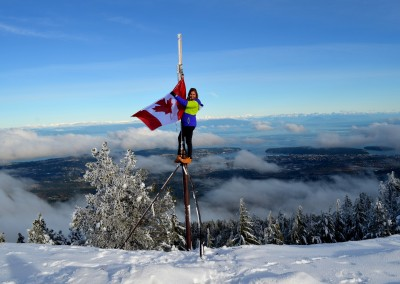 VIU (Canada) - At the Top of Mount Benson