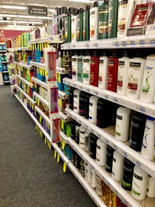Cosmetic Products in American supermarket